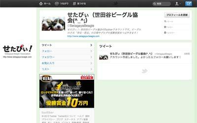 世田谷ビーグル協会のツイッター