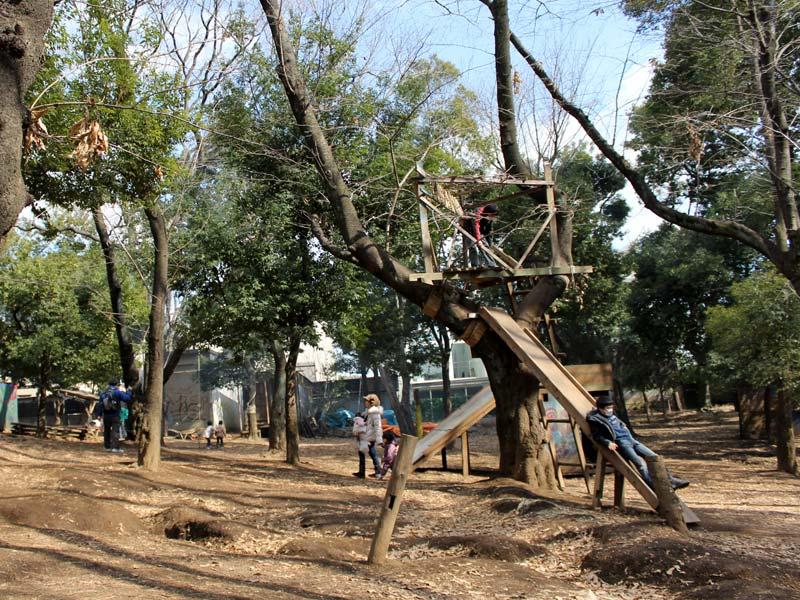 羽根木公園の遊び場