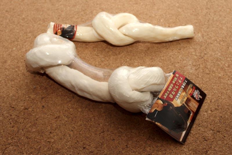 牛革の骨型おもちゃ
