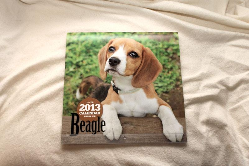ビーグルカレンダー2013年表紙