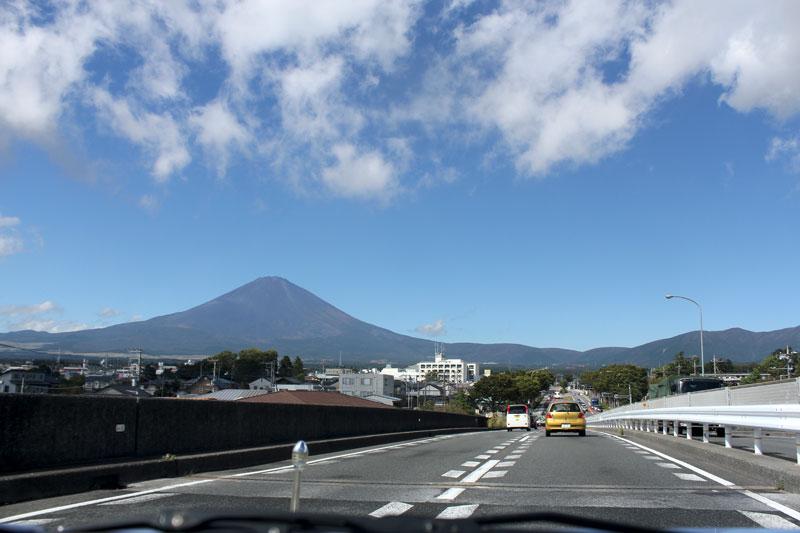車窓からの富士山