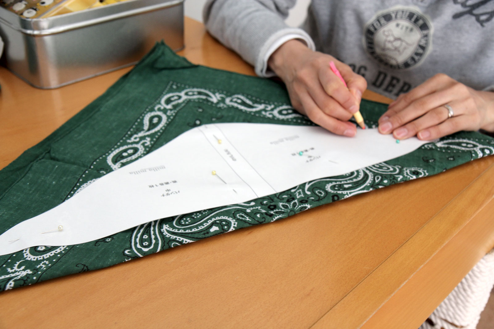 バンダナの型紙