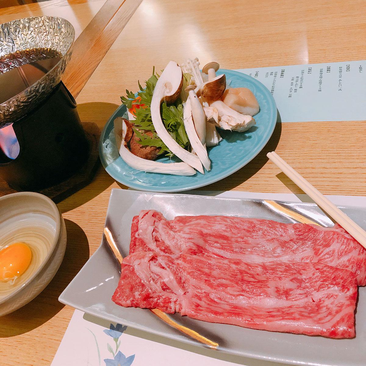 伊賀牛のすき焼き風